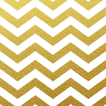 Gold glittering zigzag seamless pattern on white background