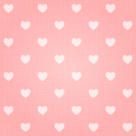 Seamless hearts pattern with linen retro texture