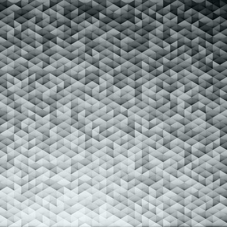 Silver gray glittering lamina sequins mosaic angular dimensional pattern.