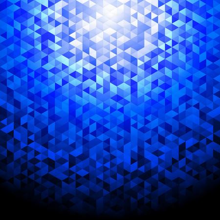 Blue glittering lamina sequins mosaic angular dimensional pattern.