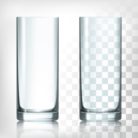 Illustration pour Empty drinking highball glass cup on thansparent background - image libre de droit