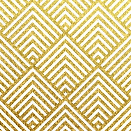 Ilustración de Geometric gold glittering seamless pattern on black background. - Imagen libre de derechos