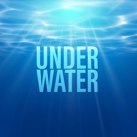 Illustration for water texture wallpaper on transparent background. Sunlight reflection. Light diffraction. - Royalty Free Image