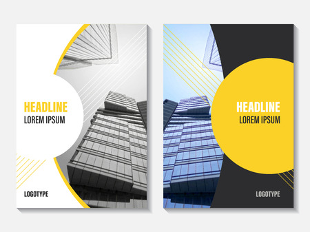 Illustration for Vector Annual Report cover design. Corporate business template for leaflet, brochure and flyer. Business booklet for catalog, website, advertising and presentation. - Royalty Free Image