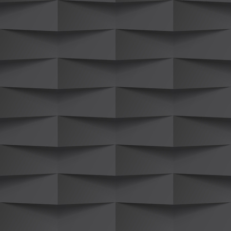 Illustration for Vector black intertwined tile pattern background. Seamless geometric twisted interwoven design. 3D texture interior wall panel for graphic or website template - Royalty Free Image