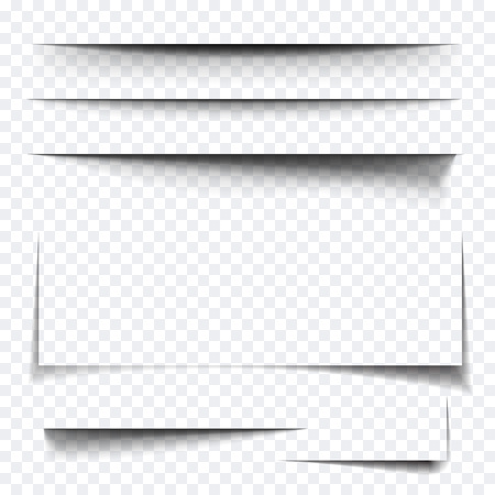 Illustration pour Paper sheet shadow effect. Vector transparent realistic shadows set for advertising banner templates.Vector shadow with multiply layer effect - image libre de droit