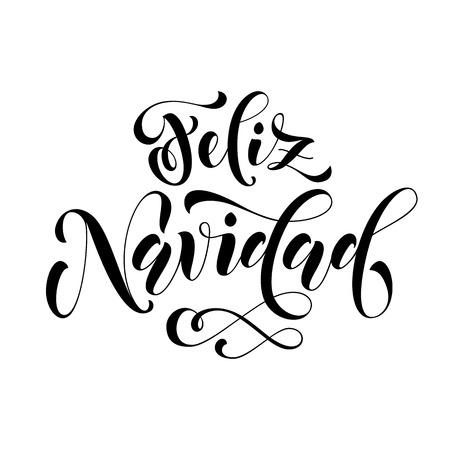 Feliz Navidad Modern Lettering For Spanish Merry Christmas