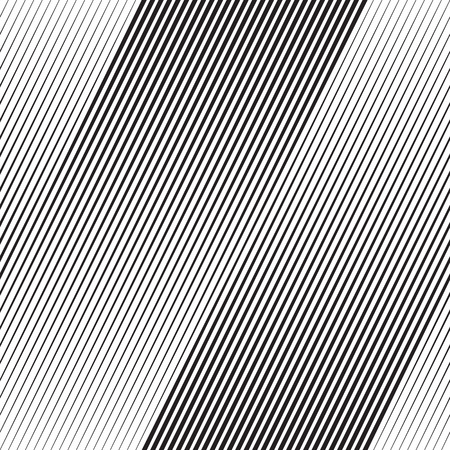 Illustration for Vector Halftone Line Transition Abstract Wallpaper Pattern. Seamless Black And White Irregular Lines Background - Royalty Free Image