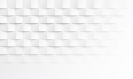 Illustration pour Abstract white background with brick shadow texture. Vector geometric backdrop illustration for horizontal template layout design of presentation, banner, landing, flyer - image libre de droit