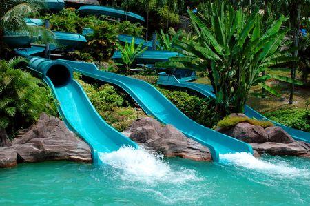 Foto de Water slide in the theme park - Imagen libre de derechos