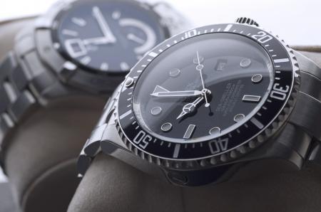 Kuala Lumpur, Malaysia - June, 8 2012: Close up of luxury wristwatches