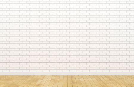 Empty white brick wall