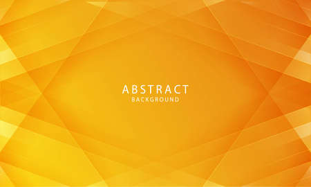 Illustration for Abstract papercut background vector. Modern abstract gradient orange background concept. - Royalty Free Image