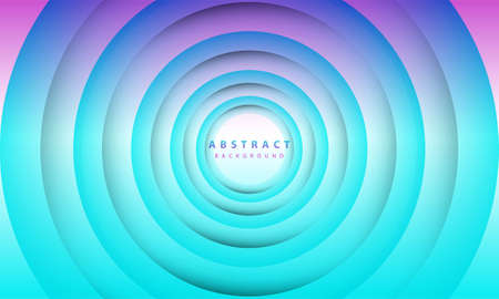Photo pour Abstract 3D circle paper cut layer gradient background blue and purple color. Elegant circle shape design. - image libre de droit