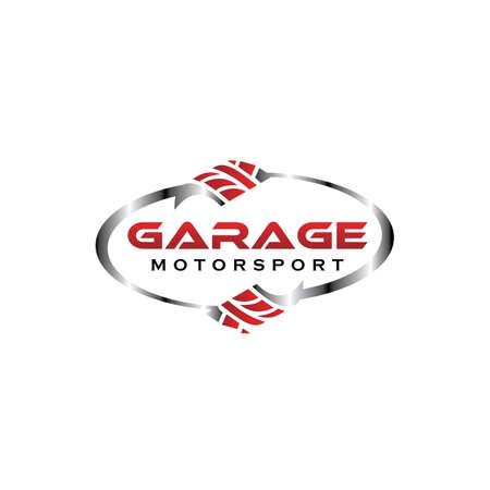 Illustration pour Car service and garage symbols, logos, emblems and icons collection. - image libre de droit