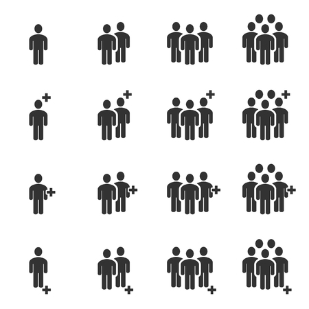 Illustration for People Icons , Person work group Team Vector - Royalty Free Image