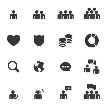 Illustration for People  Icons Business Vector - Royalty Free Image