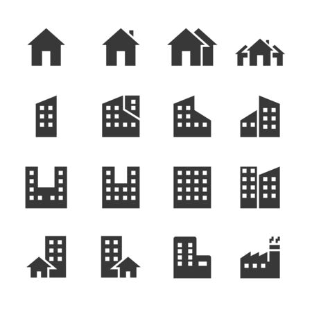 Illustration for building icons. vector illustration - Royalty Free Image