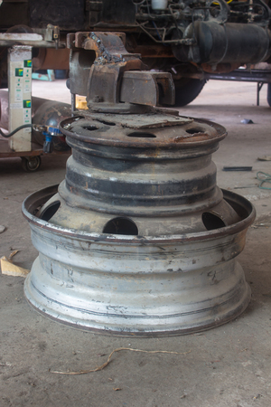 An Old rim for cars