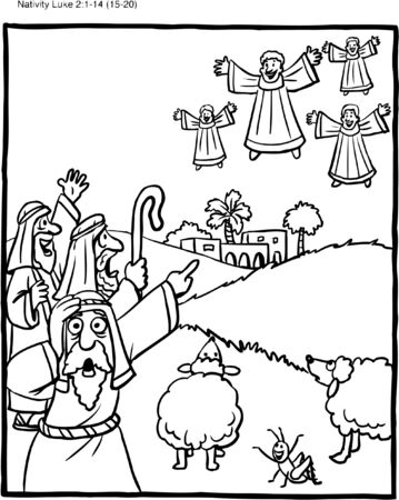 Coloring Pages : Jesus Is Born Coloring Page Pages Free Printable ... | 450x359