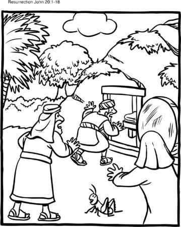 Illustration pour Easter Coloring Page Empty Grave - image libre de droit