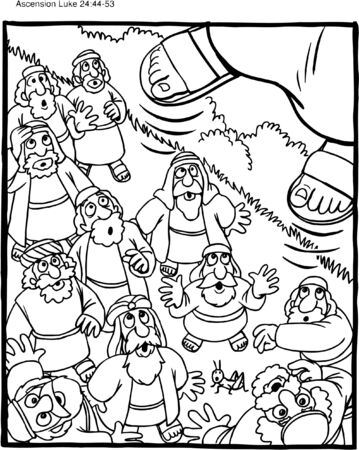 Ascension of Jesus Christ Coloring Pages | Sunday school coloring ... | 450x359