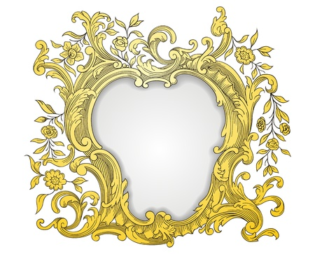 Illustration for Vintage golden frame - Royalty Free Image