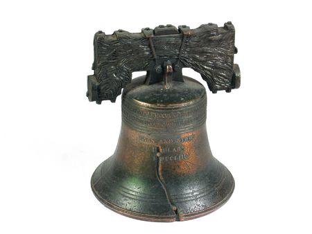 Foto für American Liberty Bell Philadelphia isolated  - Lizenzfreies Bild