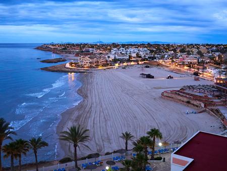 Photo for Popular great summer vacation travel destination La Zenia Beach Orihuela Costa South Spain - Royalty Free Image