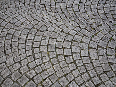 Photo for Traditional old calssic design cobbled stones road in a pattern Denmark - Royalty Free Image
