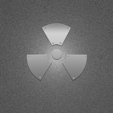 Sign on the prevention of radioactive infection. Threat and danger symbol.