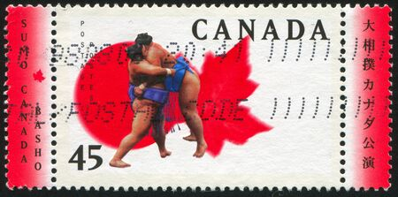 CANADA - CIRCA 1998: stamp printed by Canada, shows Sumo, circa 1998