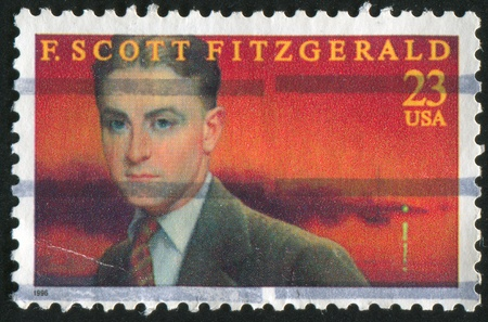 UNITED STATES - CIRCA 1996: stamp printed by United states, shows Scott Fitzgerald, circa 1996