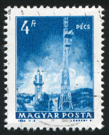 HUNGARY  CIRCA 1964: stamp printed by Hungary, shows Television transmitters, Pecs, circa 1964