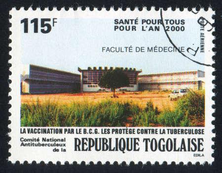 TOGO - CIRCA 1987: stamp printed by Togo, shows Hospital, circa 1987