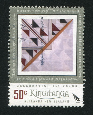 NEW ZEALAND - CIRCA 2008: stamp printed by New Zealand, shows abstarction, circa 2008