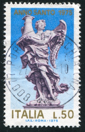 ITALY - CIRCA 1975: stamp printed by Italy, shows Angel holding column, circa 1975
