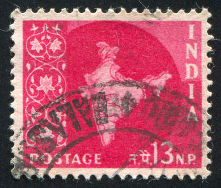 INDIA - CIRCA 1957: stamp printed by India, shows map of India, circa 1957