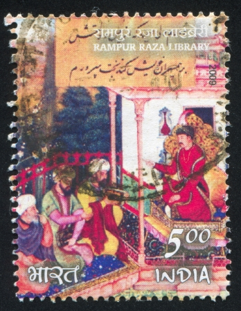 INDIA - CIRCA 2009: stamp printed by India, shows Rampur Raza library, circa 2009