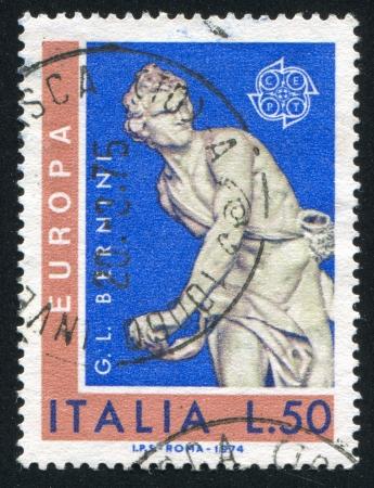 ITALY - CIRCA 1974: stamp printed by Italy, shows David by Giovanni Bernini, circa 1974
