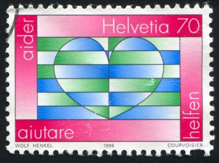 SWITZERLAND - CIRCA 1996: stamp printed by Switzerland, shows Heart, circa 1996