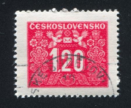 CZECHOSLOVAKIA - CIRCA 1946: stamp printed by Czechoslovakia, shows Postage Due, circa 1946