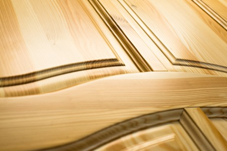 Photo for Wooden surface. Frame and panel construction. Close up. - Royalty Free Image