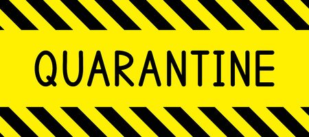 Illustration pour Quarantine. Warning stripe. Quarantine zone. Restricted area. Warning stripe. Seamless stripe. Vector illustration. - image libre de droit