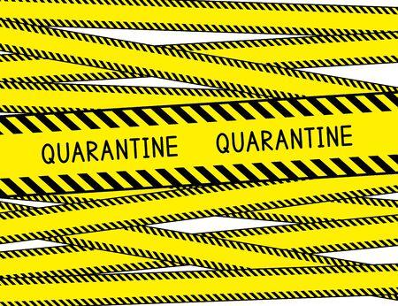 Illustration for Quarantine. Restricted area. Quarantine zone. Warning stripes. Vector illustration. - Royalty Free Image