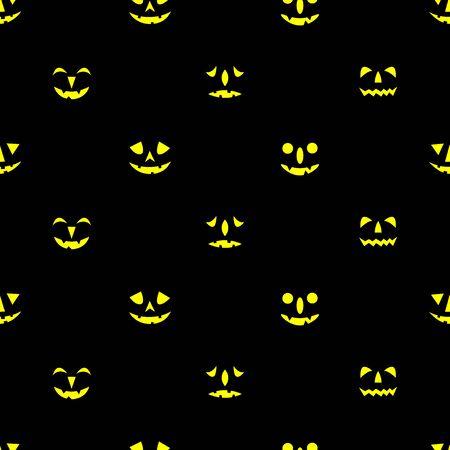 Illustration pour Jack-o-lanterns seamless pattern. Happy Halloween background. Vector illustration. - image libre de droit