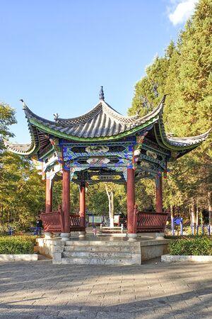 Black Dragon Pool Scenic Park at Lijiang, Yunnan Province, China