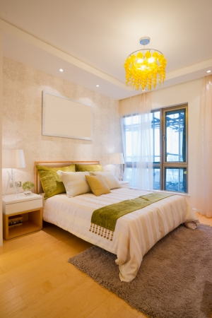 the bedroom with modern style
