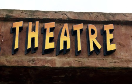 theatre sign. theater sign