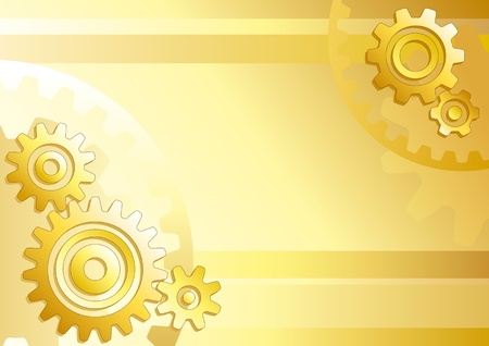 Vector technical background with gears